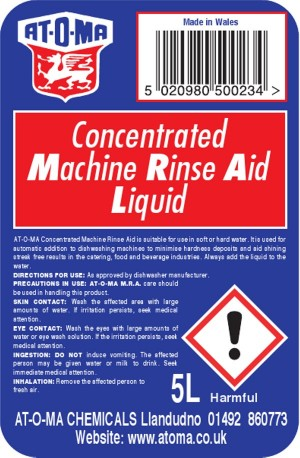 Premium Machine Rinse Aid Liquid